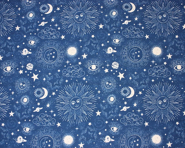 Blue Zodiac Galaxy Cotton Jersey