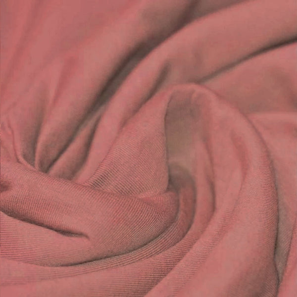 Clay Pink Cotton Solid Jersey