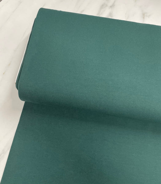 Emerald Green Cotton Solid Jersey