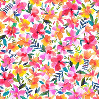 Watercolour Floral French Terry - Pink