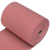Red And White 5mm Stripe Knit Ribbing