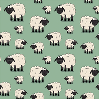 Sheep Cotton Jersey - Green