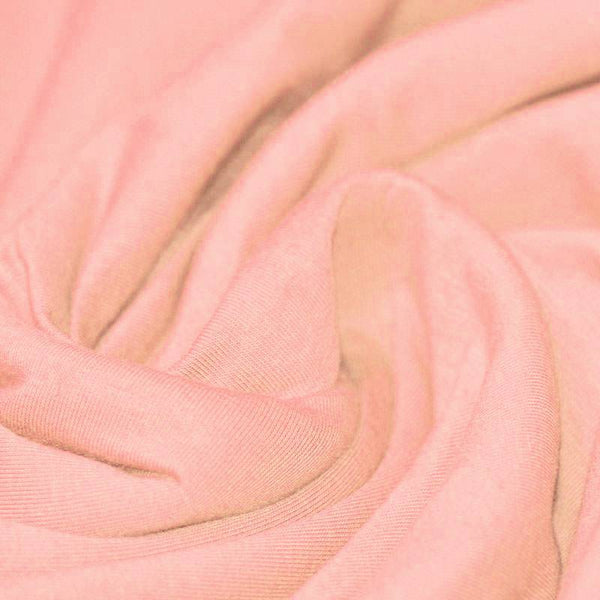 Salmon Pink Cotton Solid Jersey