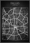 Dallas Map - Art Print - Zapista