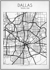 Dallas Street Map - Art Print - Zapista