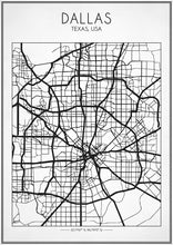 Dallas Street Map - Art Print