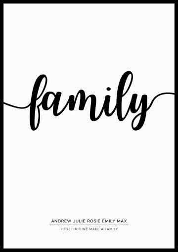 FAMILY PERSONAL PRINT