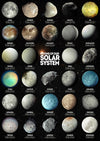 Moons Of Our Solar System - Art Print - Zapista