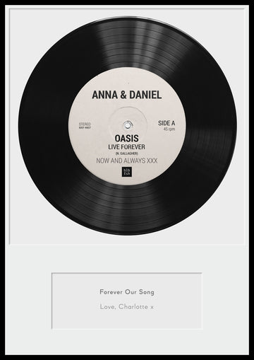 PERSONALISED VINYL RECORD PRINT