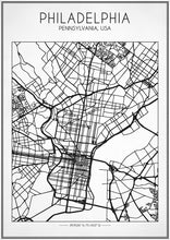Philadelphia Street Map - Art Print
