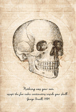 Skull Quote By George Orwell - Art Print