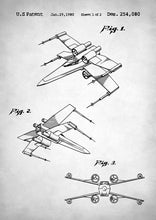 Star Wars X Wing Patent - Art Print
