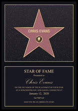 PERSONALISED STAR OF FAME PRINT