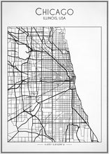 Chicago City Street Map - Art Print