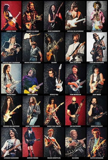 Greatest Guitarists Of All Time - Art Print