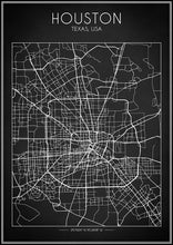 Houston Map - Art Print