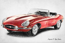 Jaguar E-type - Art Print
