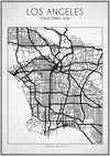 Los Angeles Street Map - Art Print - Zapista