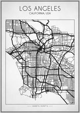 Los Angeles Street Map - Art Print