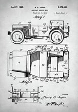 Military Vehicle Patent - Art Print