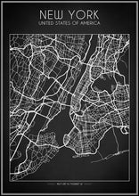 New York City Map - Art Print