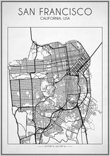 San Francisco Street Map - Art Print