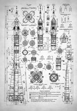 Soviet Rocket Schematics - Art Print