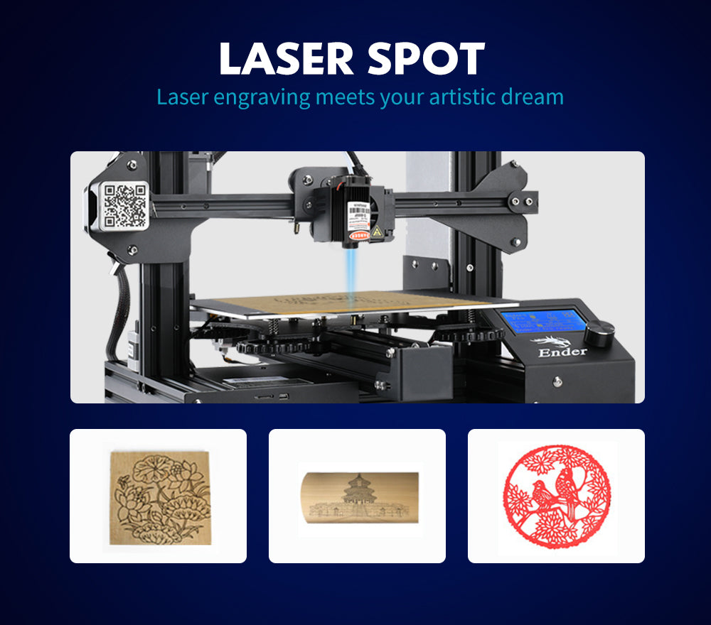 ender 3 3d printer parts,  cerality upgraded laser head kits for ender series, cr series