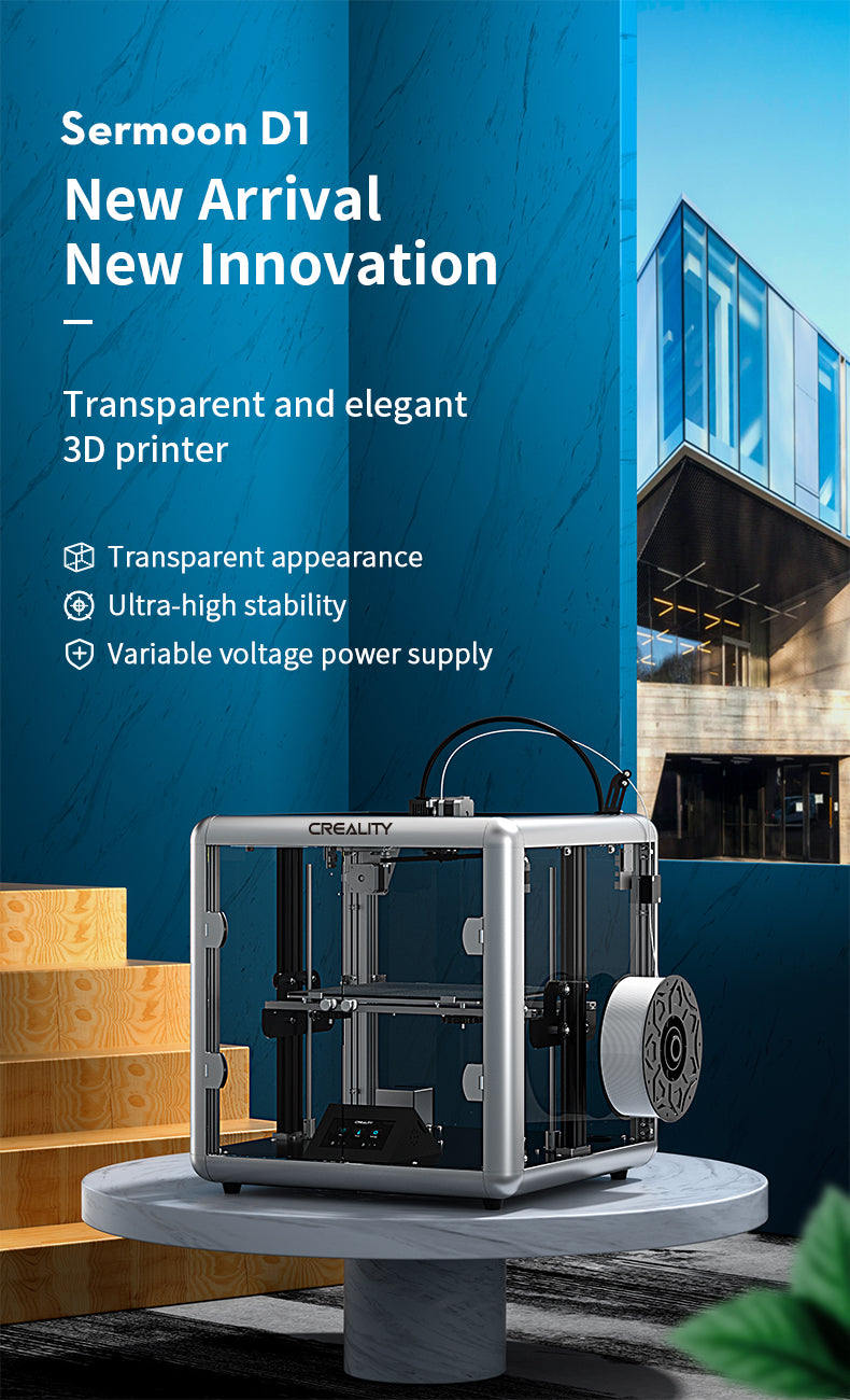 direct drive 3d printer, sermoon d1 diy enclosed printer