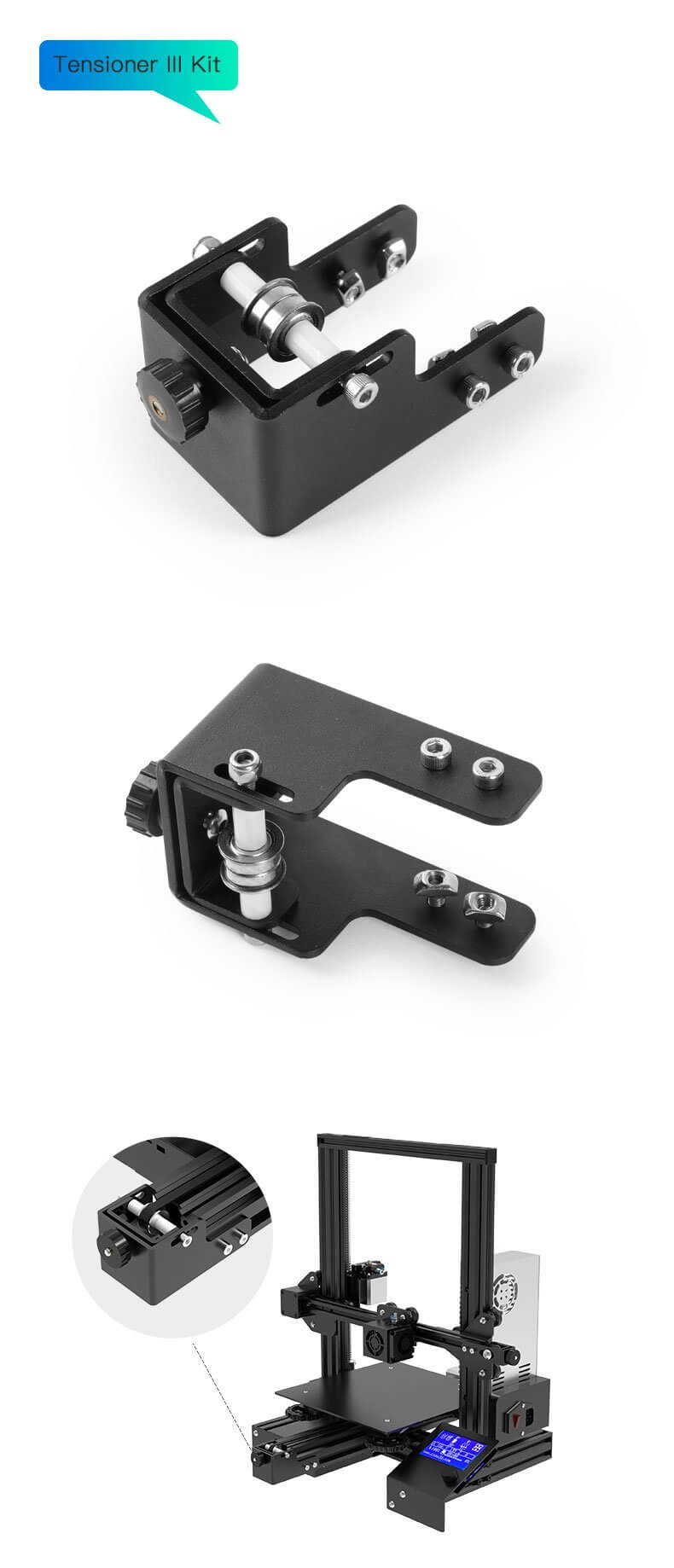 Upgraded X/Y-axis Synchronous Belt Tensioner