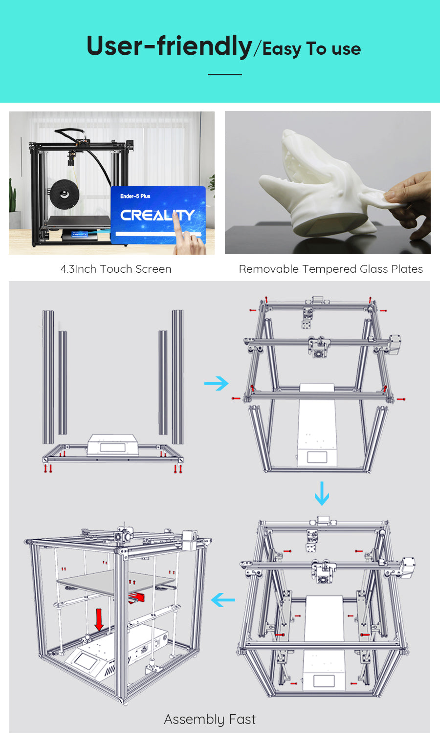 Official Creality Ender 5 Plus 3D Printer