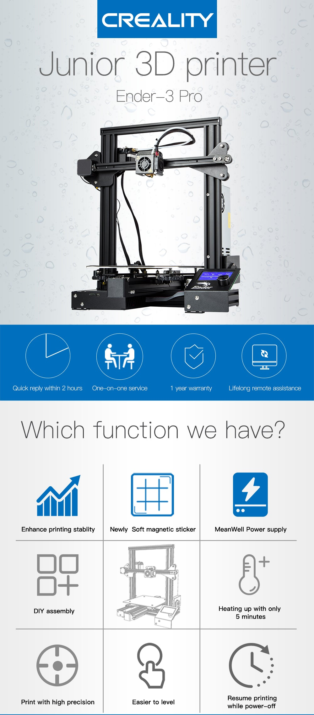 Comgrow BL Touch Auto-Leveling for Creality 3D Printer Ender 3 Ender 3 Pro//Emder-5