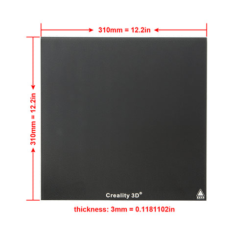 310*310mm Tempered Glass Build Plate for CR-10/CR-10S/CR-10 V2 3D Printer