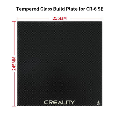 CR-6SE Tempered Glass Build Plate