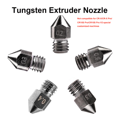 Tungsten /Brass 3D Printer Extruder Nozzle For CR/Ender Series