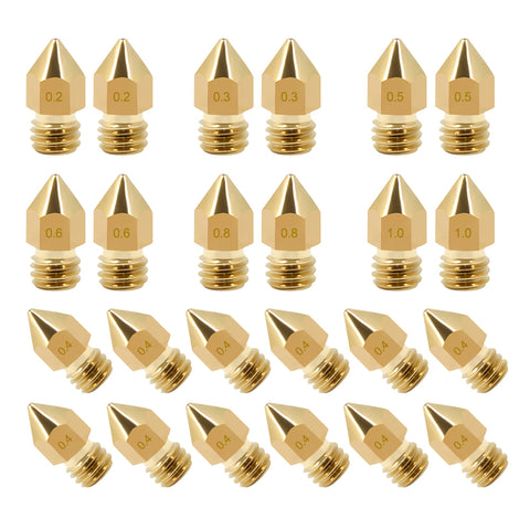 24Pcs Brass Mk8 Nozzle Print Head For CR 10, Ender Series