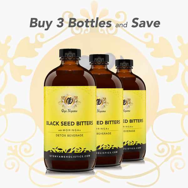 3 Bottles of BLACK SEED BITTERS with MORINGA