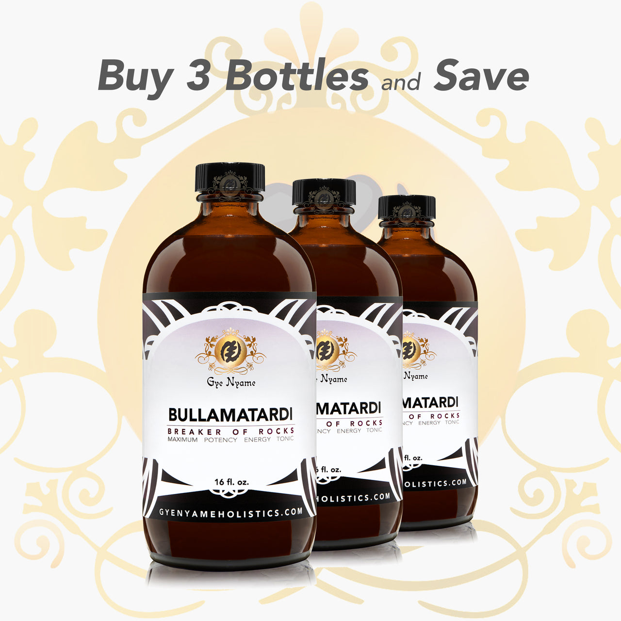 3 Bottles of BULLAMATARDI TONIC
