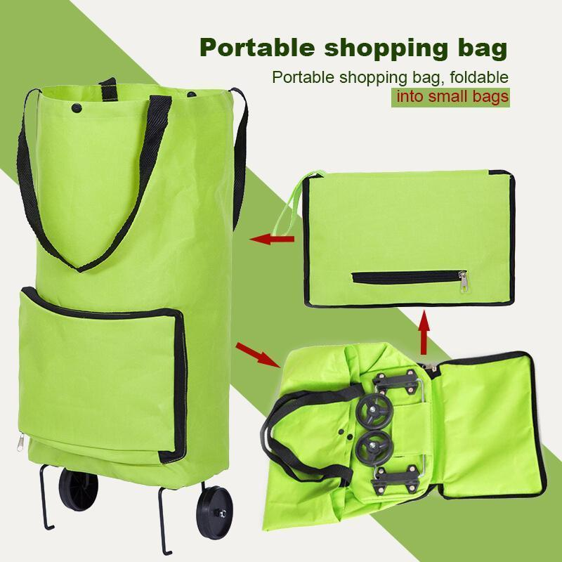 Reusable Large Grocery Shopping Bags with Wheels