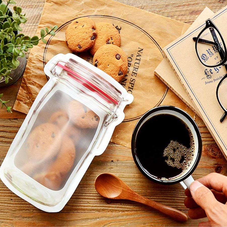 【BUY 2 GET 1 FREE】Reusable Jar Bags ( 7 Pcs / Set - 3 Large & 4 Small )