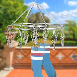 Windproof Stainless Steel Multi-Function Disc Clothes Hanger