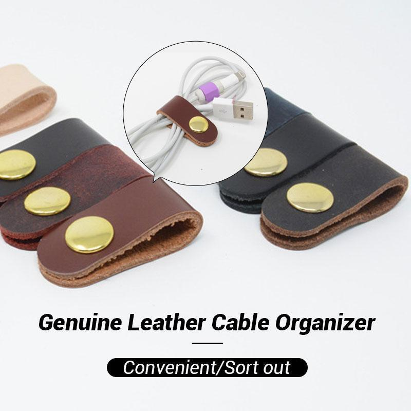 Genuine Leather Cable Organizer (2 PCS)