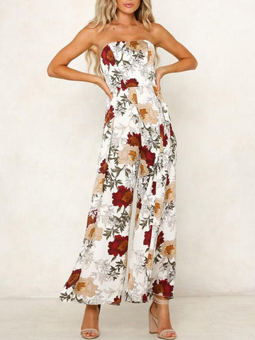 Printed Bandage Waisted Flared Sleeve Evening Dress
