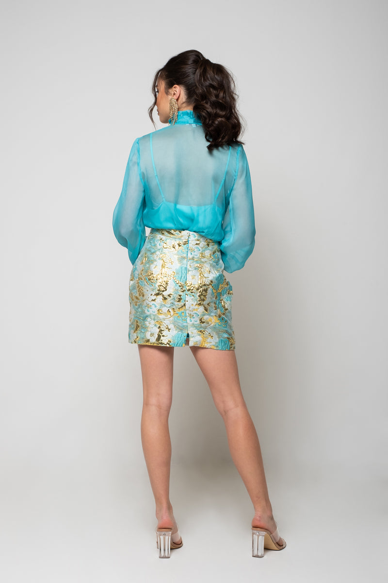 Angelina Skirt - Aqua