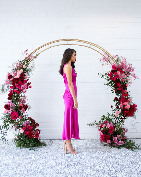 Belle Dress - Fuchsia