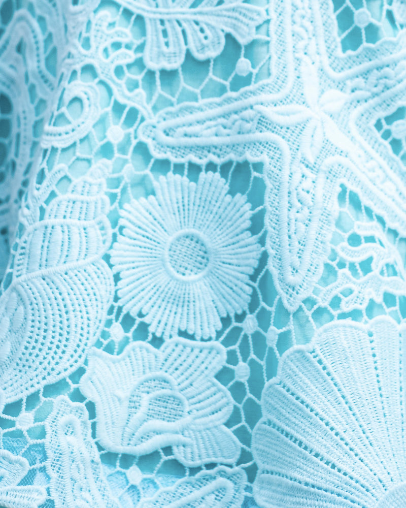 Scarlett Dress - Aqua Lace