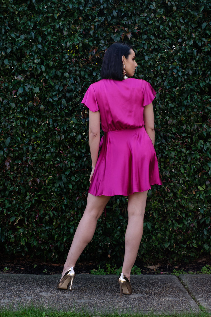 Zoe Dress - Fuchsia