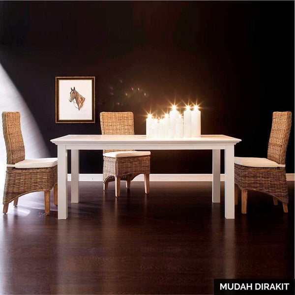 Meja Makan Kayu Mahoni Kokoh 160cm Dining Table by NovaSolo