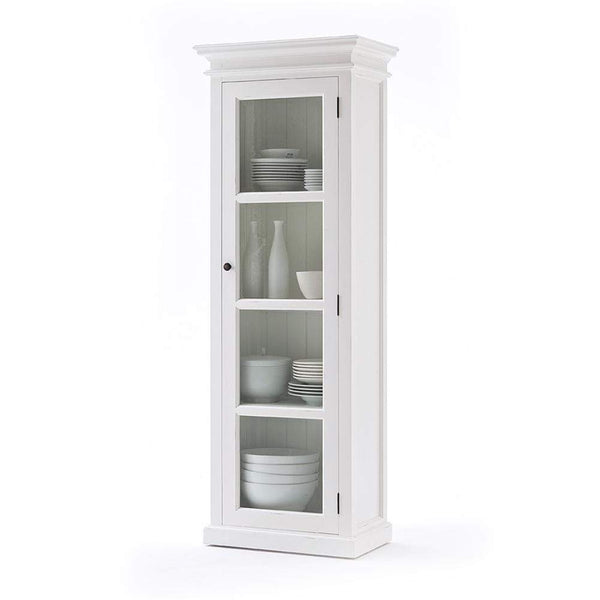 Halifax 1 Door Glass Cabinet-Cabinet-Hygge Home US
