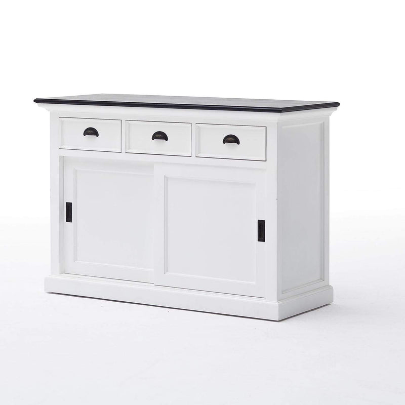 Halifax Contrast Buffet with Sliding Doors-Buffet-Hygge Home US